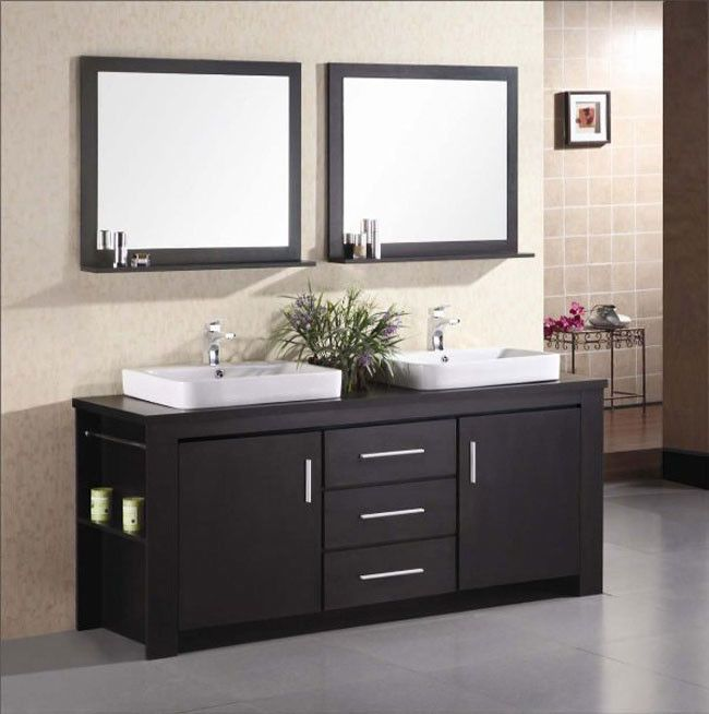Design Element Washington 72 Double Sink Vanity Set Allmodern