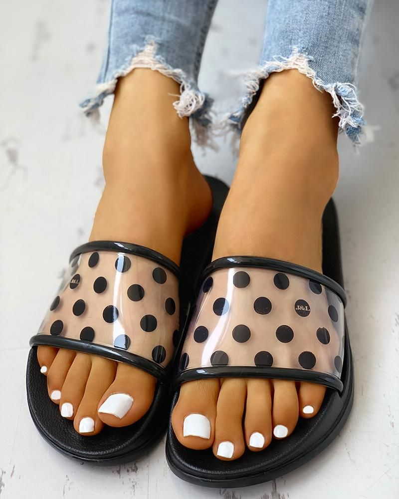 Spots Open Toe Slippers Spots Open Toe Slippers  Price  2499 Free Shipping  30 days Easy Return