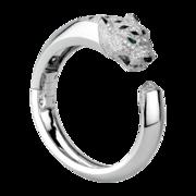 Panthère  bracelet White gold, diamonds, onyx, emeralds