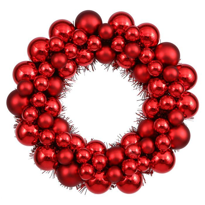 Colored Ball Wreath (With images) | Artificial christmas ...