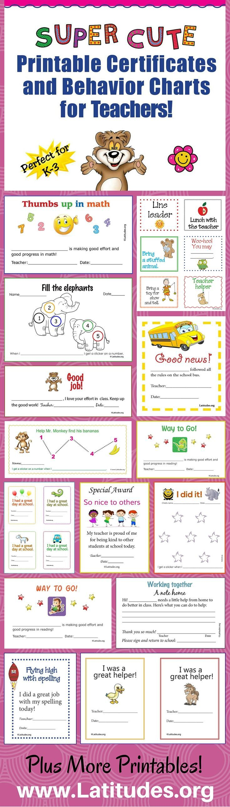 Free super cute printable certificates and behavior charts for free super cute printable certificates and behavior charts for teachers these are perfect for k 1betcityfo Image collections