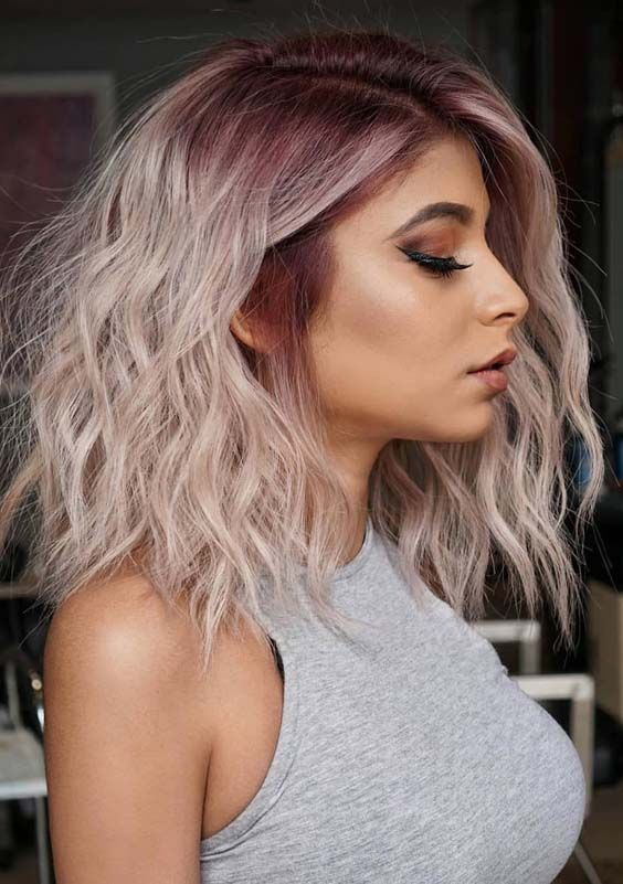 47++ Pastel pink hair with shadow root ideas
