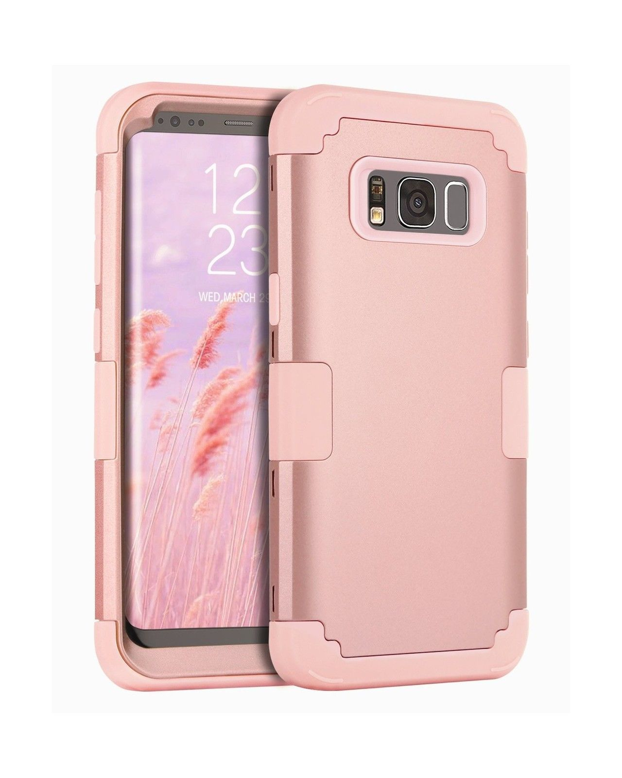 big sale b3815 08e4e Details about RUGGED ROSE GOLD New Cute Shockproof Hybrid Phone Case ...