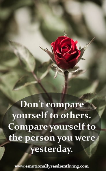 compare yourself to a rose