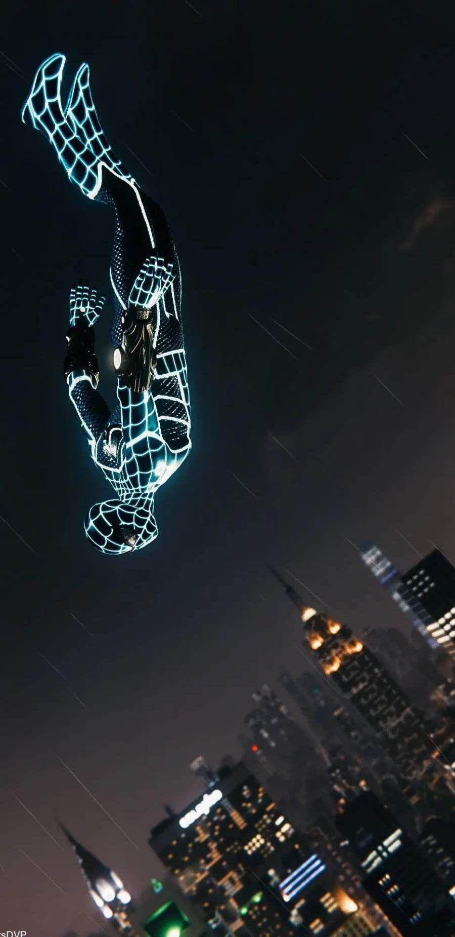 foto de Spider Man Neon Glow IPhone Wallpaper | Marvel wallpaper ...
