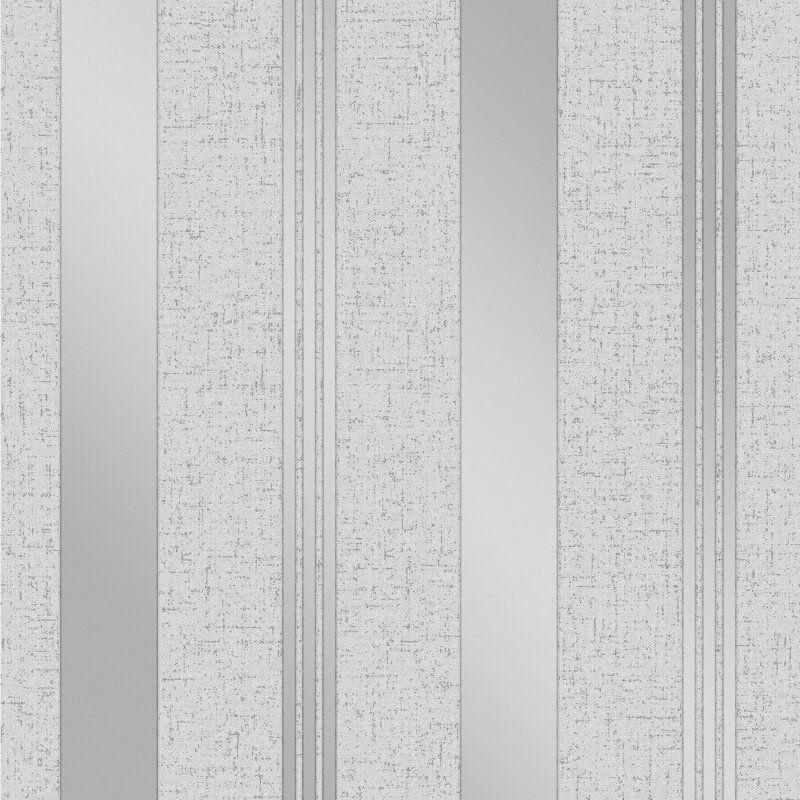 QUARTZ GEOMETRIC SILVER GLITTER GREY RETRO VINYL WALLPAPER FINE DECOR FD41968