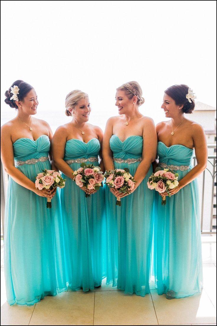 Aqua Blue Dress For Wedding Turquoise Bridesmaid Beach Wedding