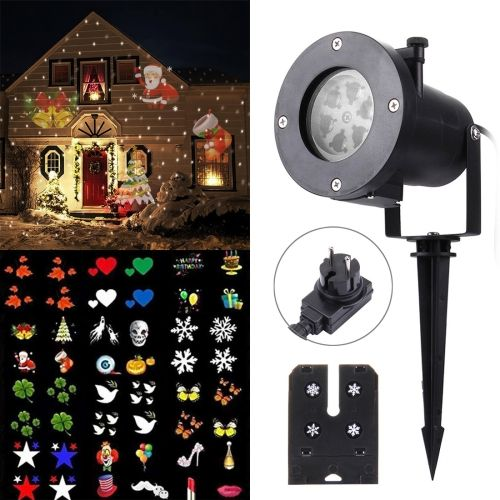 19 04 3w Waterproof Creative Led Plug In Card Lawn Lamp Outdoor Light With Twelve Kinds Of Replaceable Patterns Led Lights Led Dropshippers