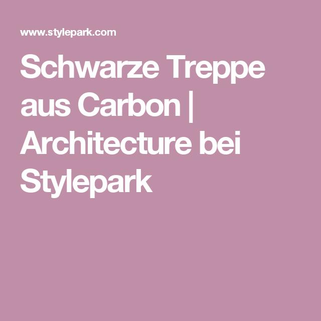Schwarze Treppe aus Carbon | Architecture bei Stylepark