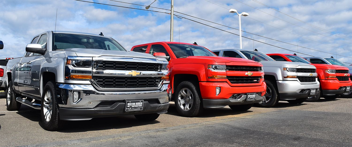 The 2017 Chevy Silverado. Comes in more than two colors