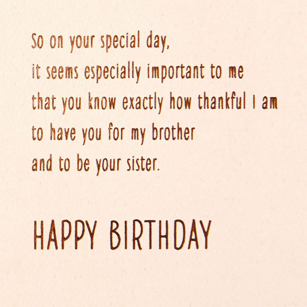 Thankful For You Birthday Card For Brother From Sister Greeting Cards Hall Brother Birthday Quotes Birthday Cards For Brother Happy Birthday Brother Quotes