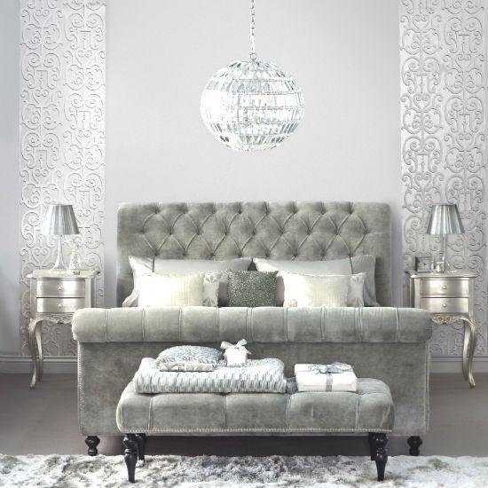 Best Details About Grey Velvet Bed Frame 4Ft6 Double Bedstead 400 x 300