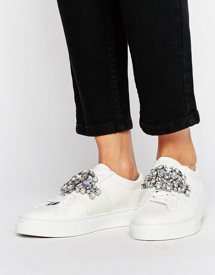 335c321b2a shopping buy it now. asos decode embellished trainers white. trainers by  asos collection shoes