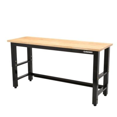 Husky 6 Ft Solid Wood Top Workbench Should Be In My