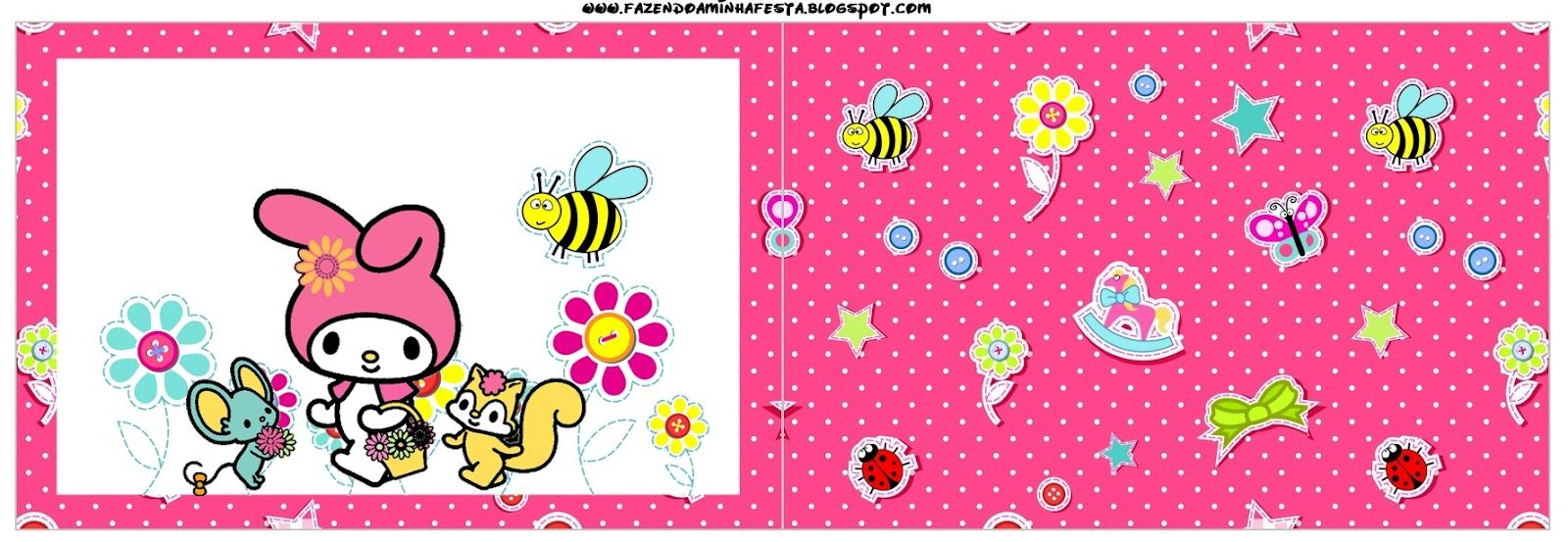 My Melody Birthday Party Free Party Printables, Papers