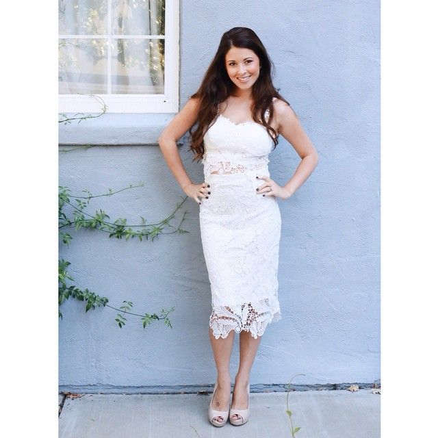 """a6deab753d5 """"This Ivory laced dress is so darling.   you can put any fun color slip  underneath to change up your lo…"""