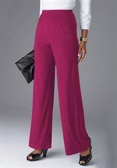 Plus Size Petite Stretch Jersey Pants (Berry Twist,L) BCO. $12.99. Save 71%!
