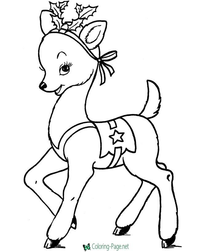 Reindeer coloring pages | Rudolph coloring pages ...