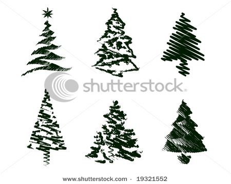Grungy Christmas Tree Sketches Christmas Tree Sketch Tree Sketches Christmas Tree Design
