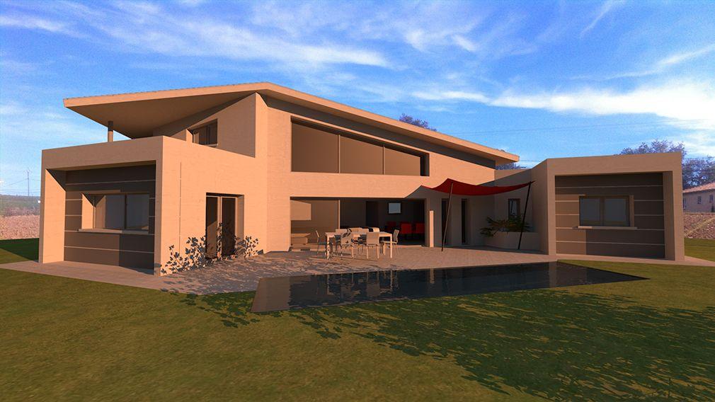 maison contemporaine toit monopente zinc avec mezzanine | Deco ...