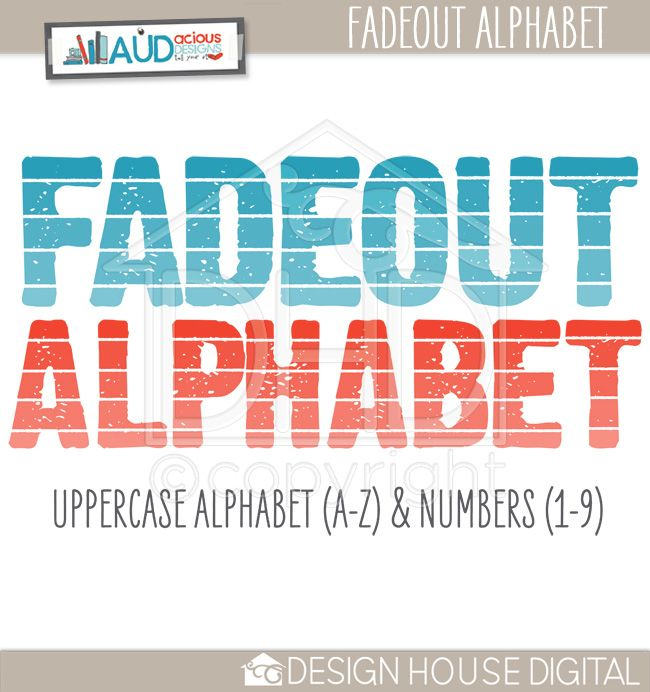 Fadeout Alphabet