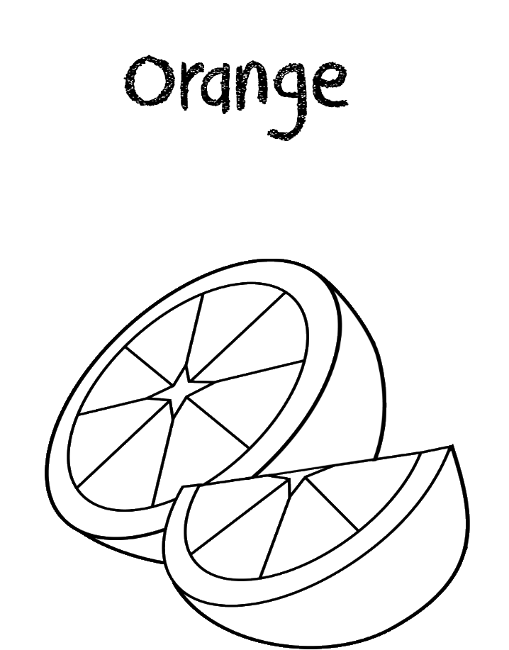 Orange Coloring Pages Fruit Coloring Pages Coloring Pages