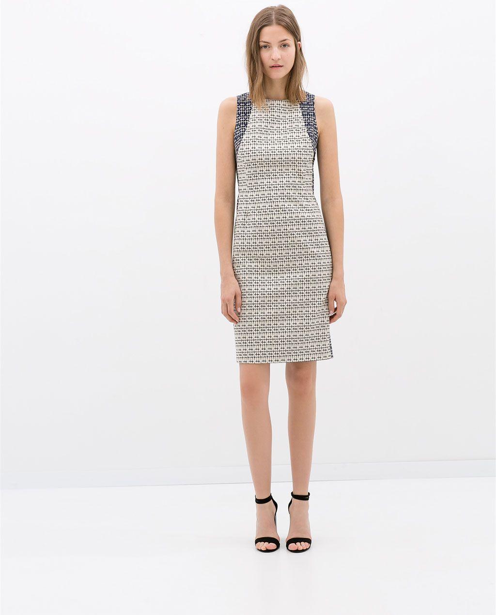 KOMBINIERTES KLEID von Zara | einkaufstasche(shopping) | Pinterest ...