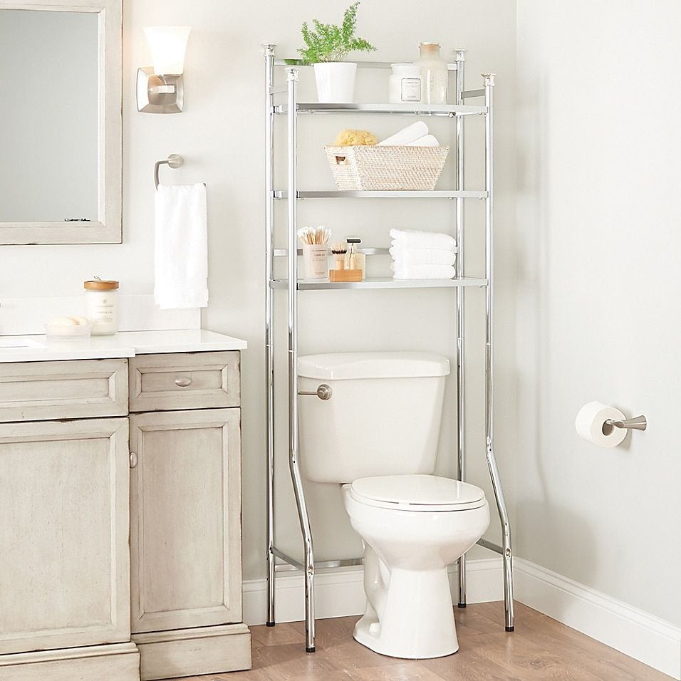 Org 3 Tier Over The Toilet Space Saver Bed Bath Beyond Decorating Bathroom Shelves Restroom Decor Over The Toilet