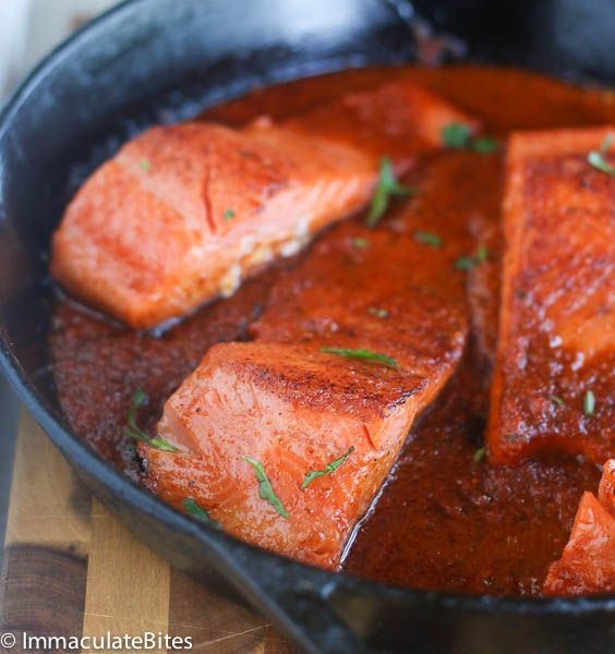 Salmon in Spicy Tomato Sauce | African Bites
