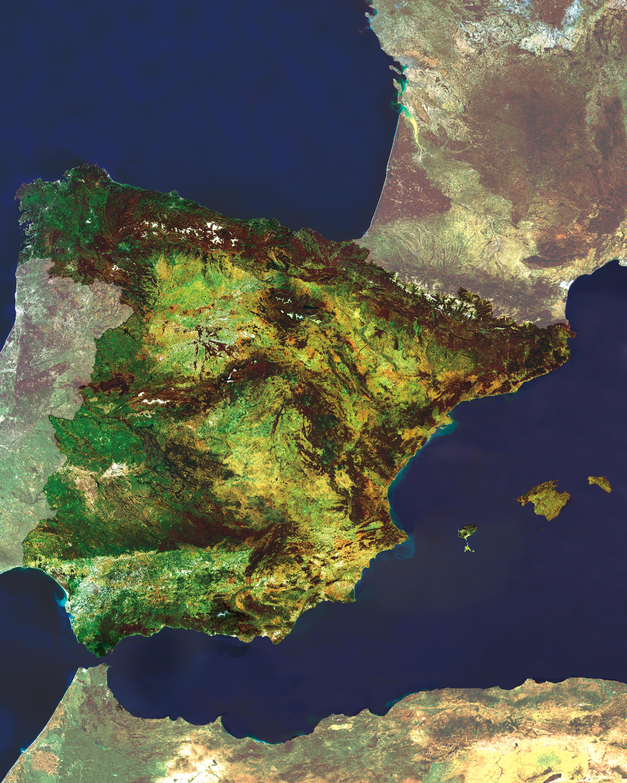 Mapa Satelital De Espana Spain Spanish Wine Outdoor