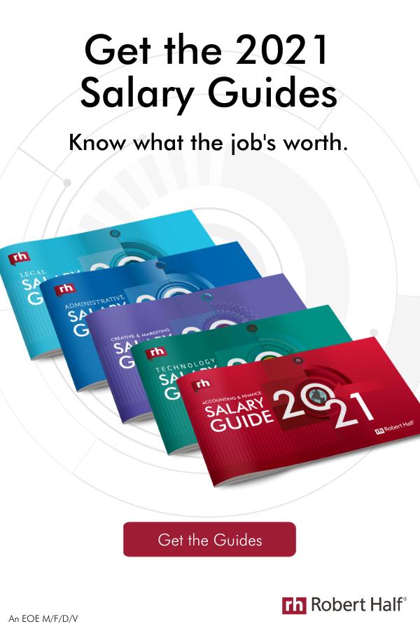 Robert Half 2021 Salary Guides Salary Guide Robert Half Salary