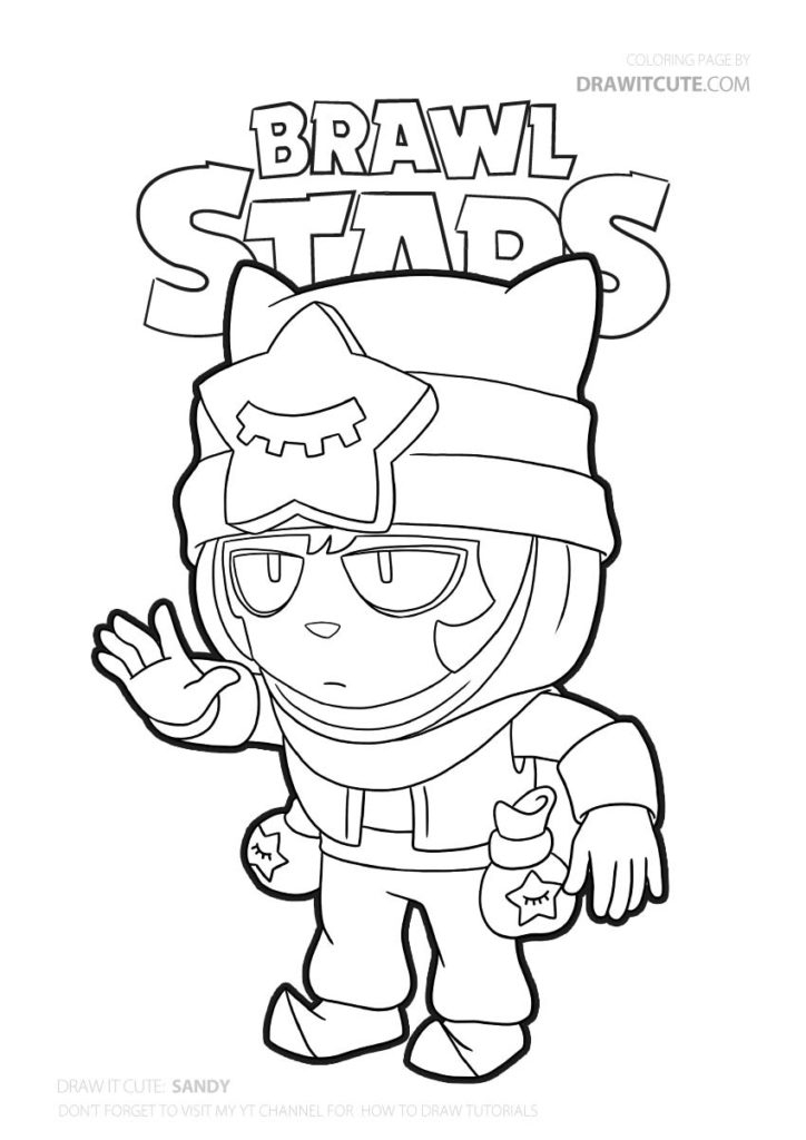 Sandy Brawl Stars Coloring Page Color For Fun Brawlstarsbr Brawlstars2019 Brawlstarspro Brawlsta Star Coloring Pages Coloring Pages Free Coloring Pages