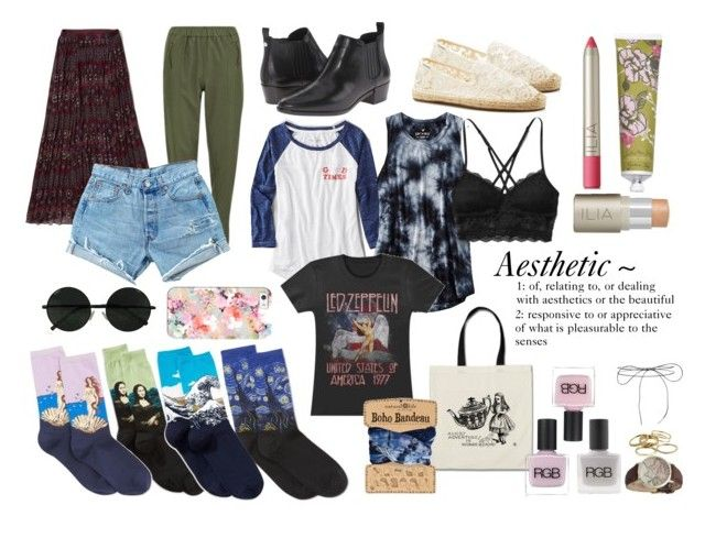 """""""aesthetic"""" by silversummerxo on Polyvore featuring Soludos, American Eagle Outfitters, Abercrombie & Fitch, RGB, MICHAEL Michael Kors, HOT SOX, Vero Moda, RGB Cosmetics, Lilou and Ilia"""