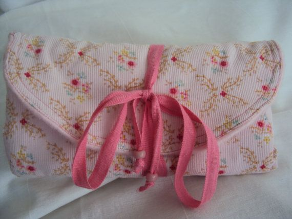 Jewelry Wrap Bag Purse Pale Pink by JaneCohenArtfulBags on Etsy, $42.00