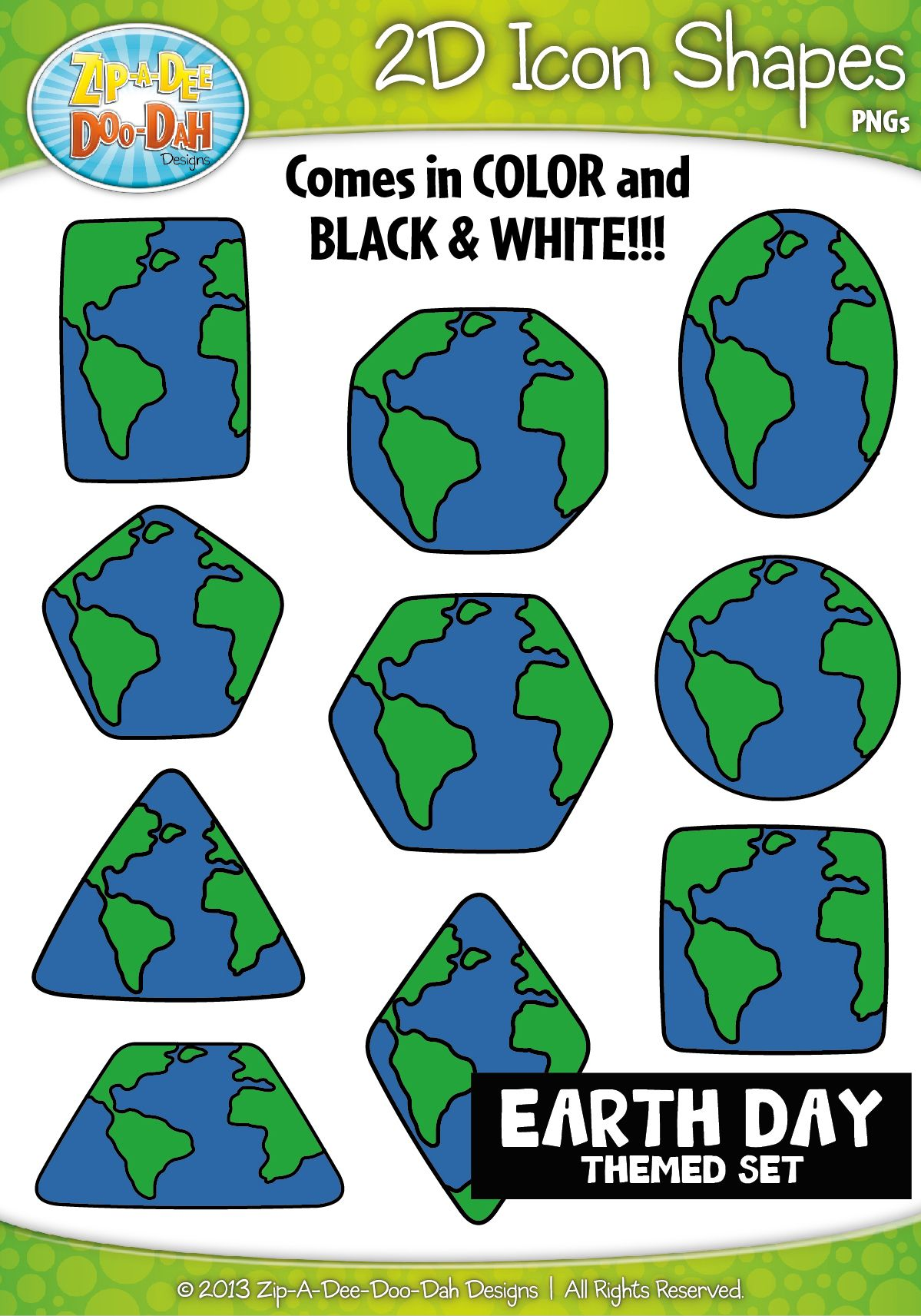 Earth Day 2d Icon Shapes Clipart Zip A Dee Doo Dah