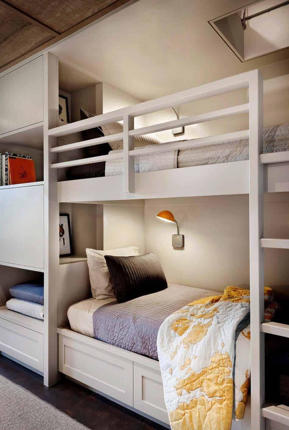 Modern Rustic Retreat Designed To Feel Like A Summer Camp On Orcas Island Diy Living Room Decor Modern Bunk Beds Living Room Diy