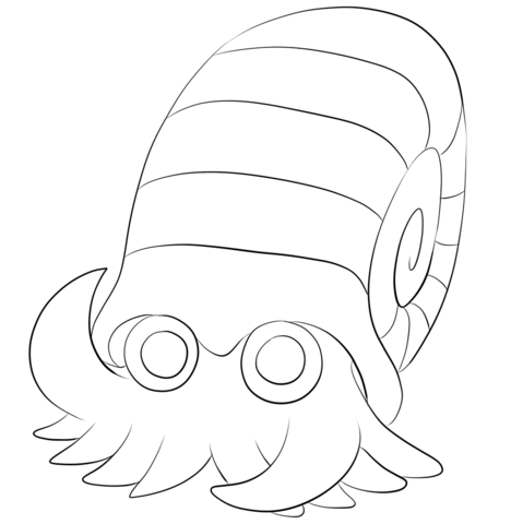 Omanyte Coloring Page