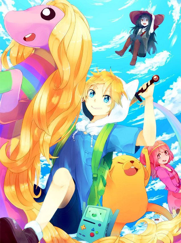 Fan Art Friday It's Adventure Time! by techgnotic on