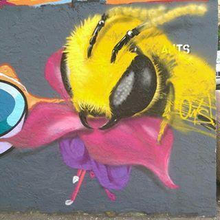 #follow me on Instagram (@_ants)  #ants #graffiti #art #nature #design #painting #streetart #graffitiart #bee #flower #realism #spraypaint