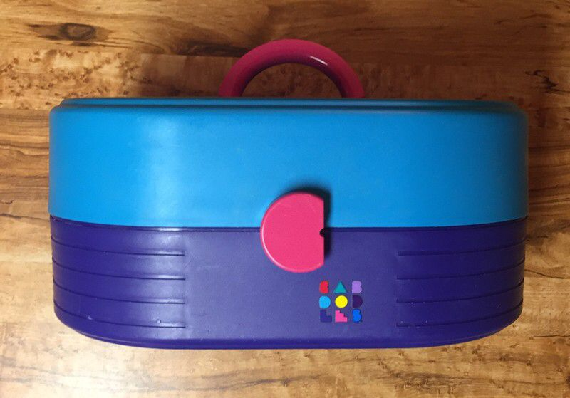 dd3654125 My Caboodles 80s Vintage Purple Teal Cosmetics Makeup Organizer Case 2614  by Caboodle! Size for