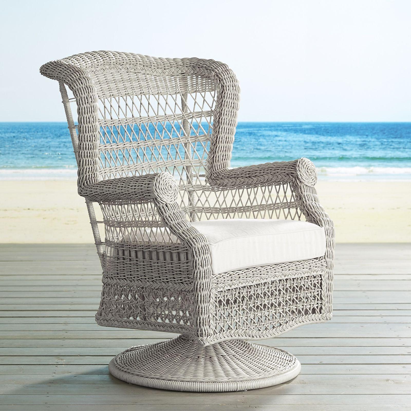 Sunset Pier Parchment Swivel Rocking Chair Rocking Chair Porch