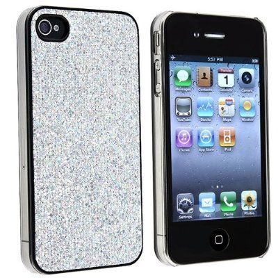 Snap-on Case Compatible With Apple iPhone 4 4S , Gray Bling by Generic, http://www.amazon.com/dp/B008TP2D3A/ref=cm_sw_r_pi_dp_2HvIrb1XJ3EVQ