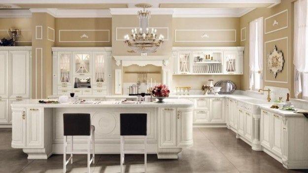 Idee per arredare una cucina classica - Cucina bianca in stile ...