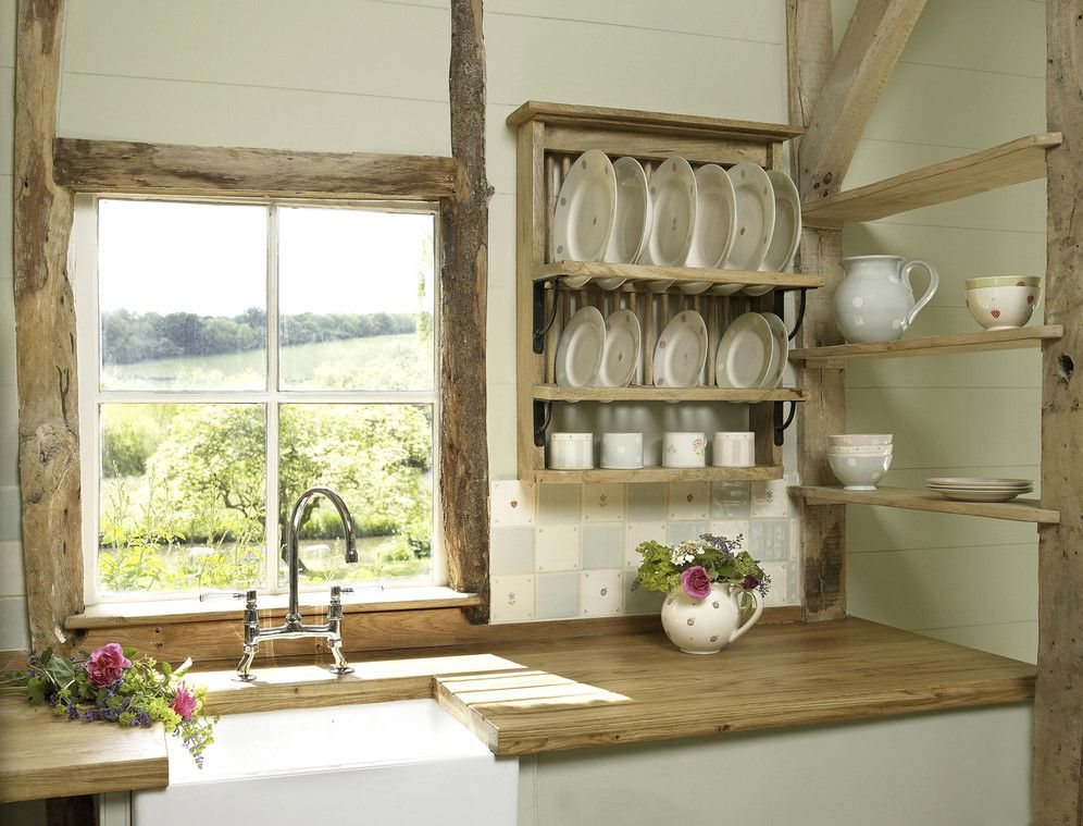 rustic plate racks in kitchens | Susie Watson\'s plate rack costs ...