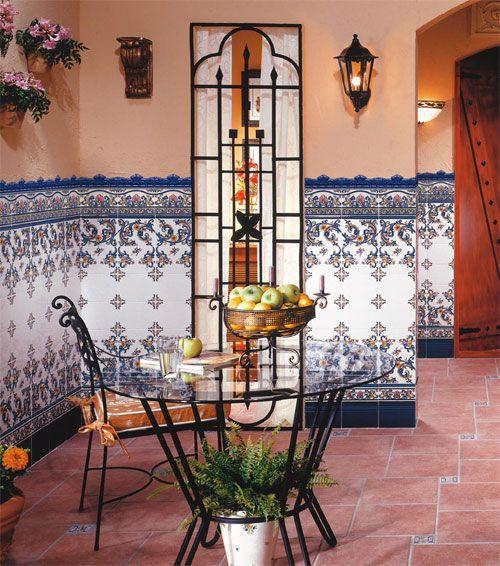 Azulejos andaluces patio andaluz pinterest mosaicos for Azulejos terrazas patios