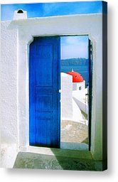 Orthodox View-santorini by John Galbo - Orthodox View-santorini Photograph - Orthodox View-santorini Fine Art Prints and Posters for Sale