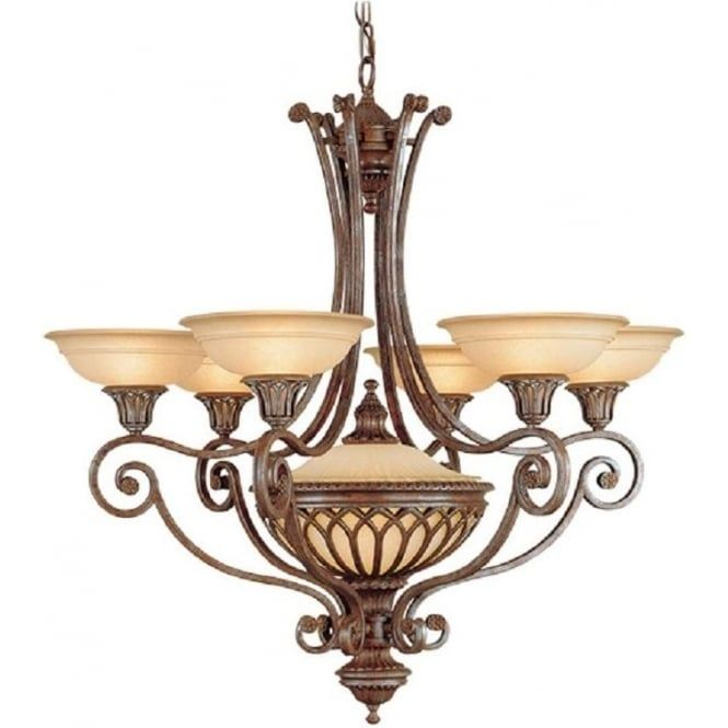 Stirling castle lighting range offers classic medieval style light fittings in british bronze with amber glass