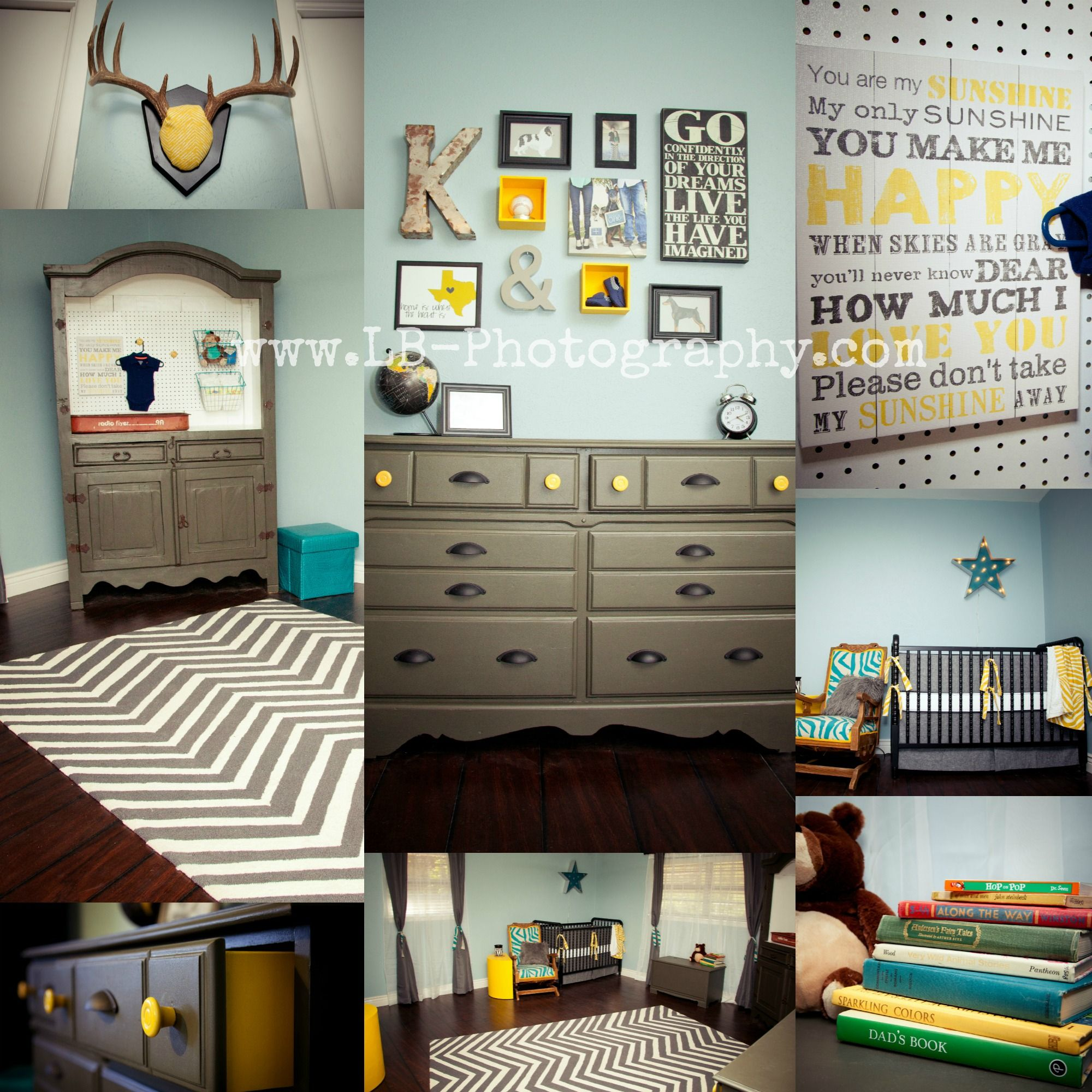 Our Little Baby Boy S Neutral Room: Grey, Yellow, And Blue Baby Boy Nursery Armoire Changing