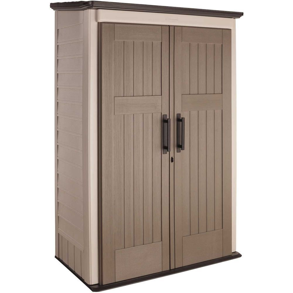 Rubbermaid Plastic Large Vertical Outdoor Storage Shed, 52 ...
