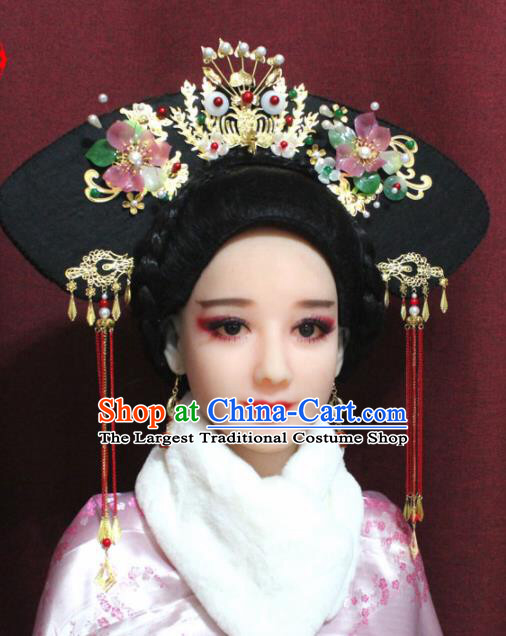 Chinese Ancient Imperial Consort Headwear Traditional Qing Dynasty Manchu Queen Hair Accessories For Wom Hair Accessories For Women Hair Accessories Queen Hair